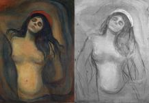 Edvard Munch Madonna_digital montage_photo and IR photo Borre Hostland_The National Museum of Norway