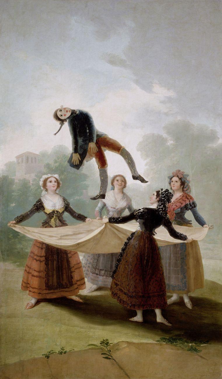 Francisco de Goya, El Pelele, 1791 92, olio su tela, 267x160 cm. Museo Nacional del Prado. Madrid © Photographic Archive. Museo Nacional del Prado. Madrid