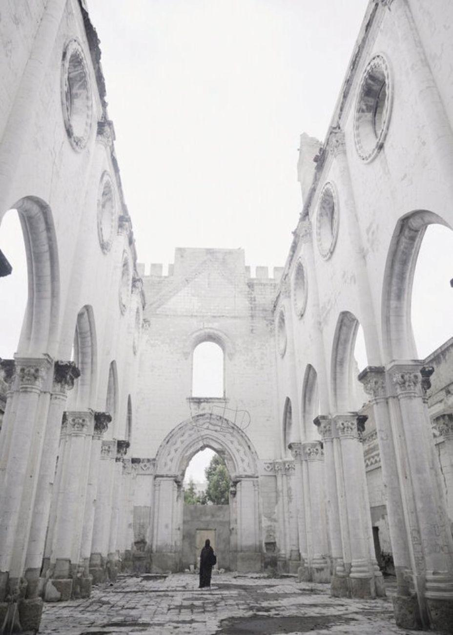 Hana Mire, Inside Mogadishu Cathedral, Mogadishu, 2020