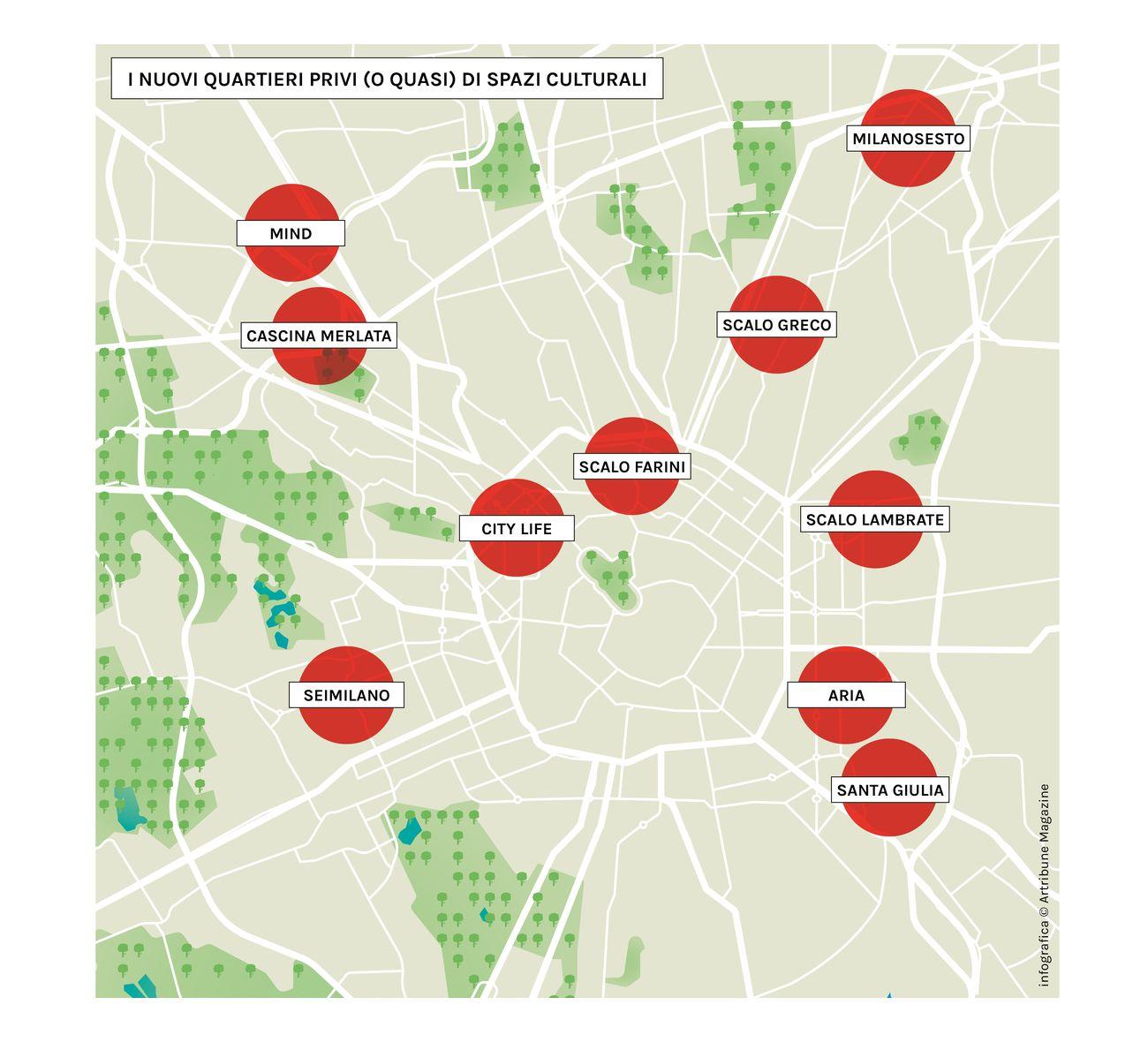 I nuovi quartieri di Milano (quasi) privi di spazi culturali © Artribune Magazine
