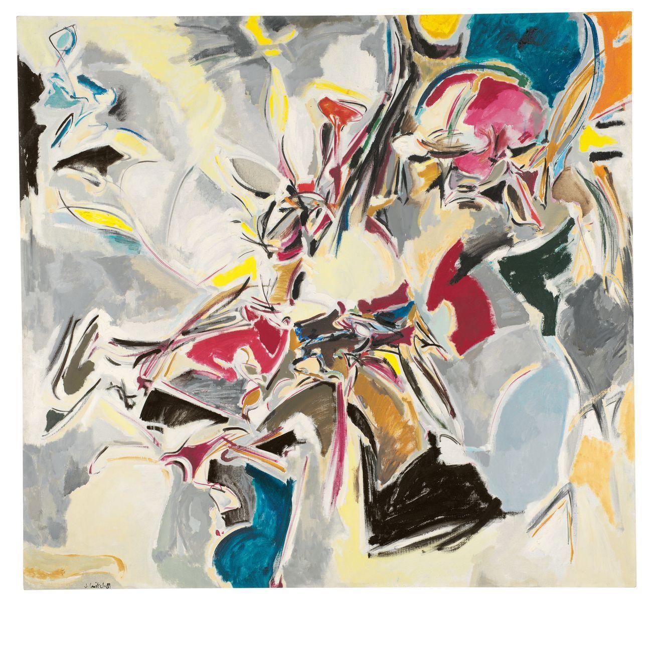 Joan Mitchell, Lyric, 1951 ca.. Frances Lehman Loeb Art Center, Vassar College, Poughkeepsie, New York, gift of William Rubin © Estate of Joan Mitchell. Photo Chip Porter