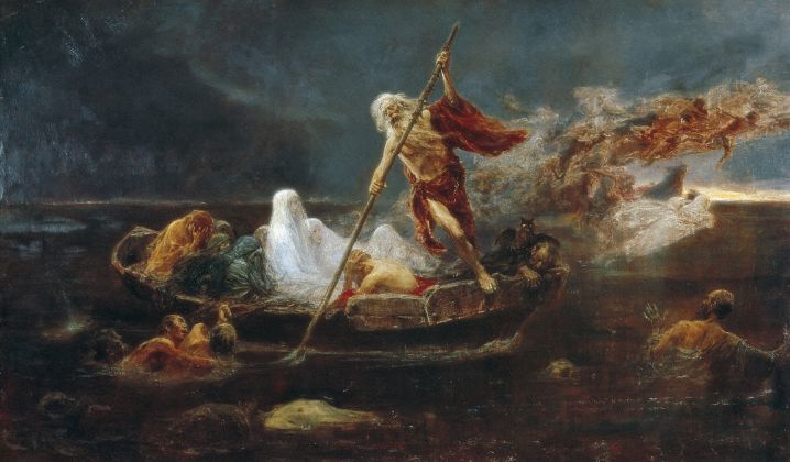 Charon's Boat (oil on canvas)