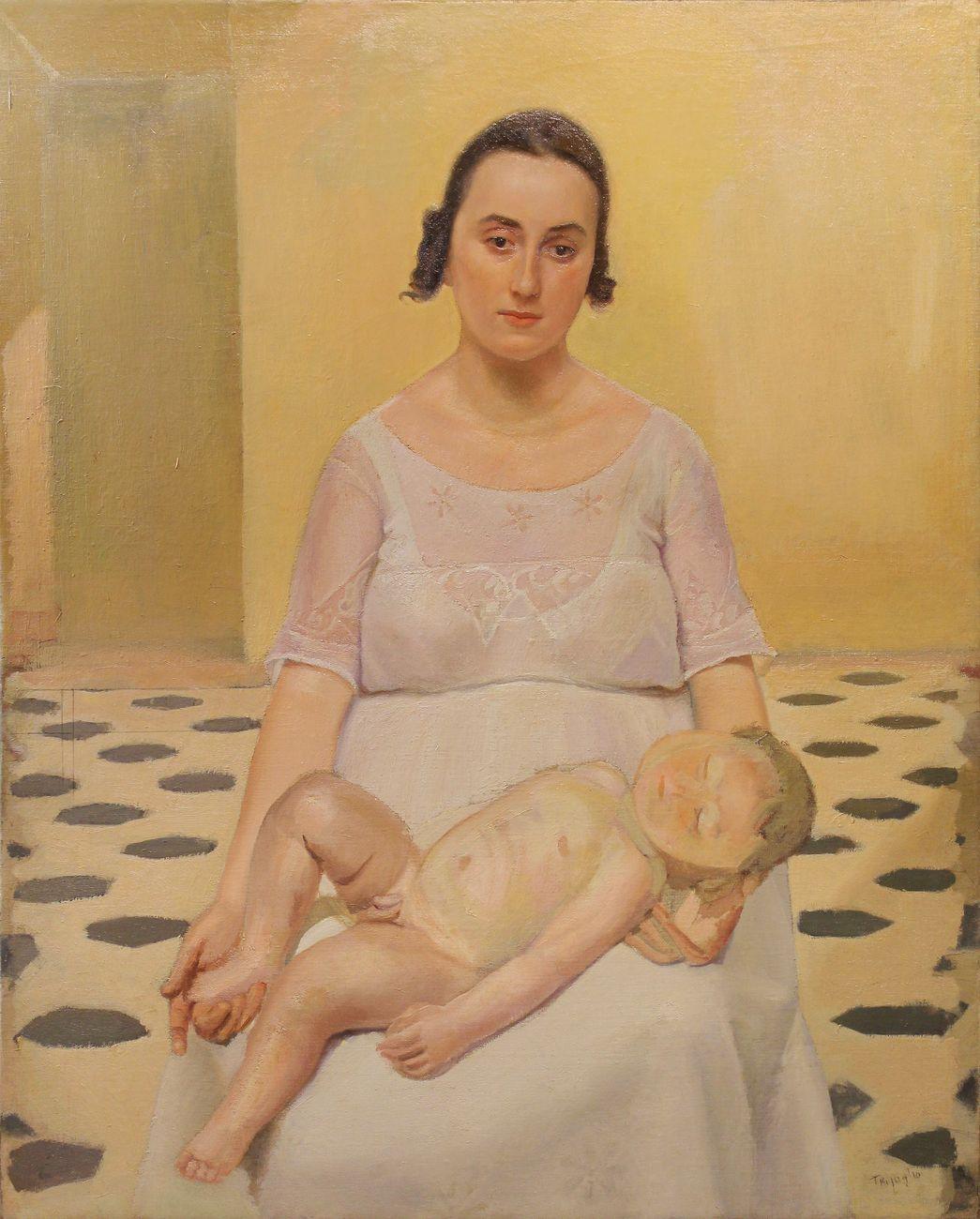 Luigi Trifoglio, Maternità. Courtesy Berardi Arte