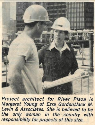 Margaret Zirkel Young at River Plaza from Building Design and Construction, 1976