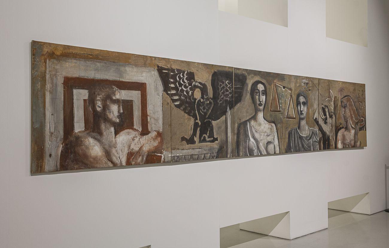 Mario Sironi. Sintesi e grandiosità. Exhibition view at Museo del Novecento, Milano 2021. Photo Antonio Fois