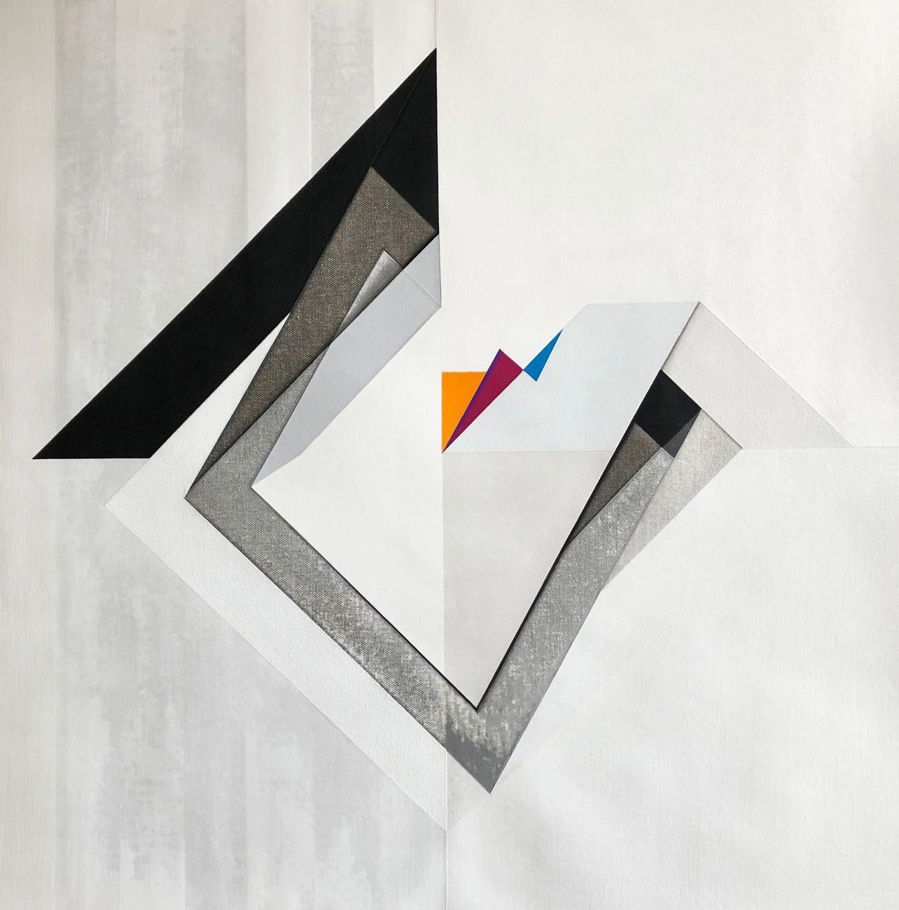 Mauro Castellani, Senza titolo, 2019, acrilico su tela, 60x60 cm