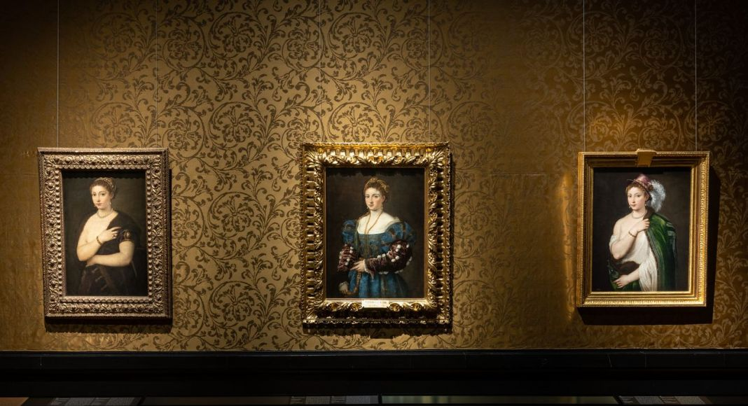 Titian's Vision of Women. Exhibition view at Kunsthistorisches Museum, Vienna 2021. Photo © KHM Museumsverband