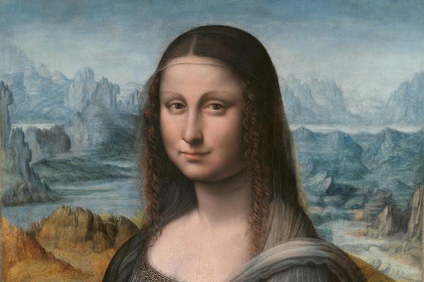 Detalle Mona Lisa (después de la restauración). Taller de Leonardo da Vinci, autorizado y supervisado por él. 1507/8-1513/16. Museo Nacional del Prado